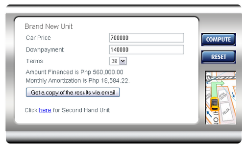 Calculator  Auto Loan  Bank of the Philippine Islands